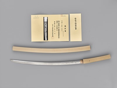 Lot 50 - A SUPERB SUE BIZEN KATANA IN SHIRASAYA WITH NBTHK CERTIFICATE, MUROMACHI PERIOD