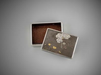 Lot 34 - KATSUHISA: A SPLENDID LACQUERED WOOD, SILVER AND SHIBUICHI BOX