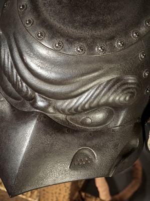 Lot 85 - MYOCHIN YOSHISUKE: AN EXCEPTIONAL IRON KAWARI KABUTO IN THE FORM OF A TENGU