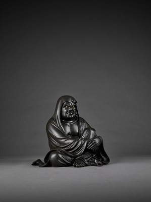 Lot 27 - TAKAHASHI RYOUN: A MASSIVE AND MASTERFUL BRONZE OF DARUMA