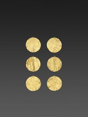 Lot 57-SIX BACTRIAN GOLD DISKS