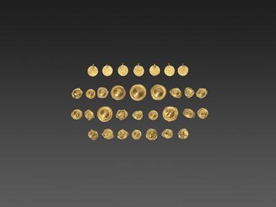 Lot 58-32 BACTRIAN GOLD GARM ENT ORNAMENTS