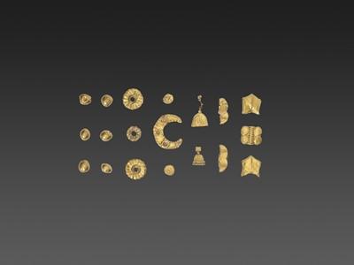 Lot 59-19 BACTRIAN GOLD GARMENT ORNAMENTS
