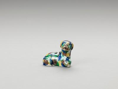 Lot 634 - A SANCAI-GLAZED 'DOG' WATER DROPPER