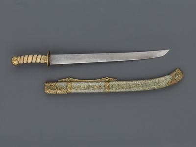 Lot 27 - A CEREMONIAL SWORD AND SCABBARD, QING DYNASTY