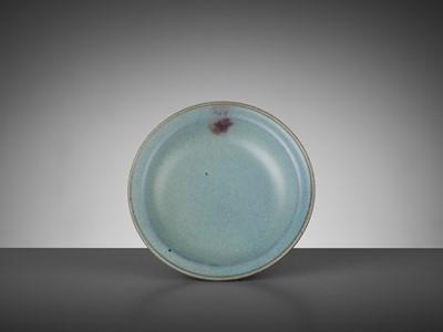 Lot 180 - A JUNYAO PURPLE-SPLASHED DISH, YUAN