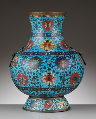 Lot 1 - A VERY LARGE CLOISONNÉ HU, MING DYNASTY