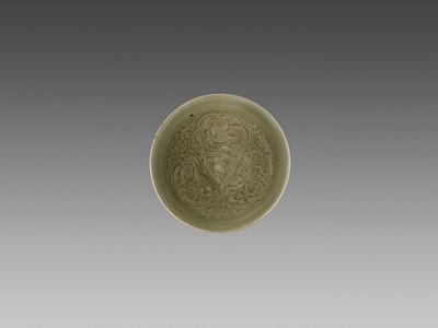 Lot 152 - A YAOZHOU CELADON-GLAZED CONICAL BOWL, NORTHERN SONG