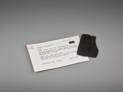 Lot 55 - A BLACK JADE AXE, 2ND MILLENNIUM BC