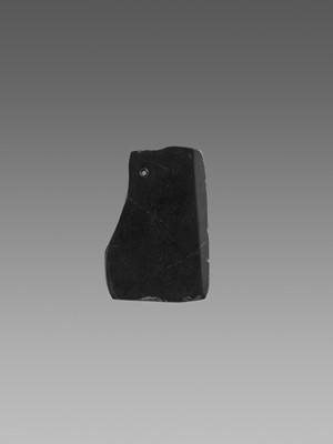 Lot 55 - A BLACK JADE AXE, 2ND MILLENNIUM BC