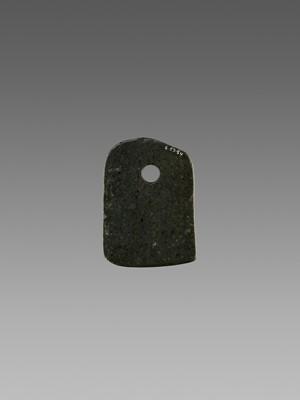 Lot 54 - A BLACK JADE AXE, 2ND MILLENNIUM BC