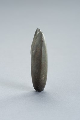 Lot 152 - AN ARCHAIC NEPHRITE ZOOMORPHIC CARVING