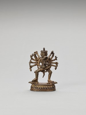 Lot 561 - A NEPALESE GILT BRONZE FIGURE OF CHAKRASAMVARA
