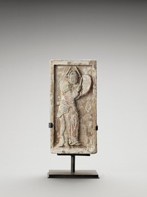 Lot 579 - A TERRACOTTA 'MUSICIAN' RELIEF, NORTHERN SONG
