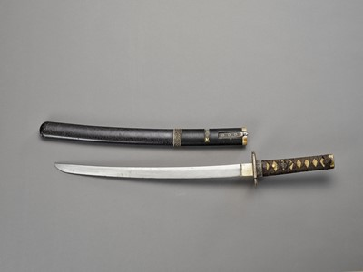 Lot 58 - A WAKIZASHI IN ATTRACTIVE KOSHIRAE
