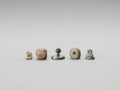 FOUR STONE AND ONE METAL PERSIAN SEALS