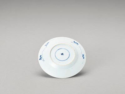 Lot 341 - A 'FLORAL' BLUE AND WHITE PORCELAIN DISH