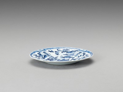 Lot 343 - A 'FLORAL' BLUE AND WHITE PORCELAIN DISH