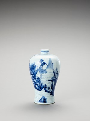 A 'FIGURAL' BLUE AND WHITE PORCELAIN VASE