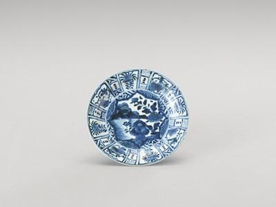 Lot 142 - A BLUE AND WHITE ARITA PORCELAIN 'FLORAL' DISH