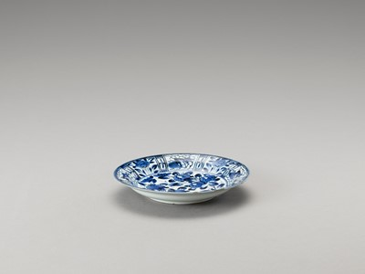 A BLUE AND WHITE 'FLORAL' PORCELAIN DISH