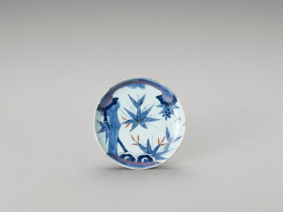 Lot 162 - A BLUE AND WHITE PORCELAIN DISH