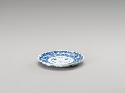 A BLUE AND WHITE ARITA PORCELAIN 'FLORAL' DISH