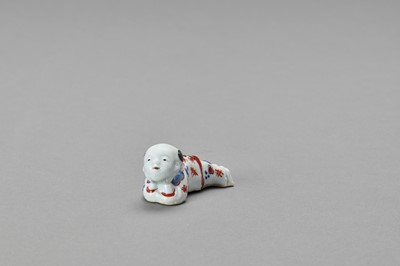 Lot 1076 - AN IMARI PORCELAIN 'KARAKO' WHISTLE
