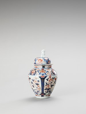 Lot 120 - AN IMARI PORCELAIN VASE AND COVER