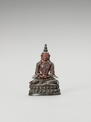 Lot 590 - A BRONZE FIGURE OF RED TARA