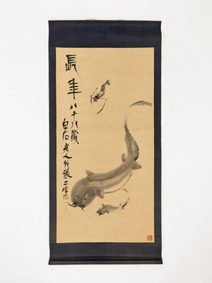 Lot 472 - AFTER QI BAISHI (1864-1957):  A HANGING SCROLL PAINTING
