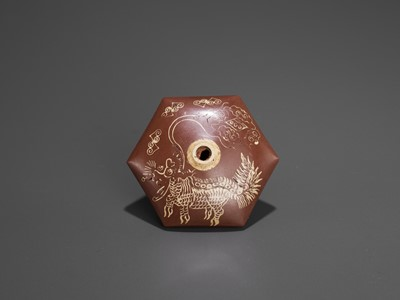 Lot 19 - A BAMBOO OPIUM PIPE WITH HARDSTONE, SILVER AND YIXING CERAMIC FITTINGS, LATE QING TO REPUBLIC