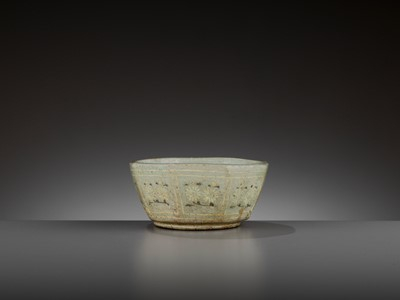 Lot 160 - A SLIP-INLAID 'FLORAL' CELADON BOWL, GORYEO DYNASTY