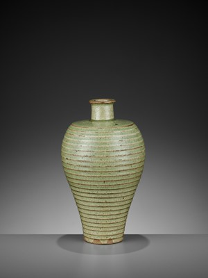 Lot 175 - A CELADON-GLAZED MEIPING, YUAN TO EARLY MING