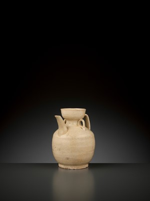 Lot 169 - AN IVORY-GLAZED EWER, FIVE DYNASTIES TO SONG DYNASTY
