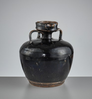 A CIZHOU BLACK-GLAZED EWER, SONG TO YUAN