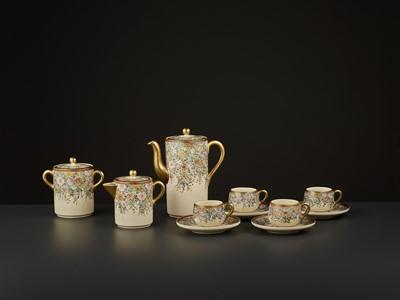Lot 98 - 11-PART SIGNED SATSUMA TEA SET