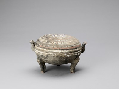 Lot 598 - TRIPOD VESSEL WITH LID, WESTERN HAN