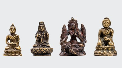 Lot 547 - FOUR SMALL CULT BRONZES