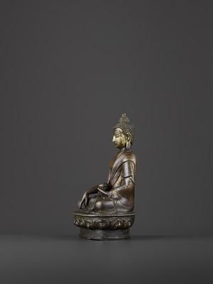 Lot 49 - A BRONZE BUDDHA SHAKYMUNI