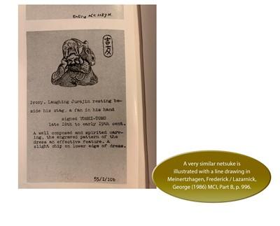 Lot 40 - YOSHITOMO: AN IVORY NETSUKE OF JUROJIN AND DEER