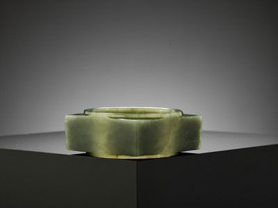 Lot 62 - AN EXCEPTIONAL SPINACH-GREEN JADE CONG, LATE SHANG DYNASTY