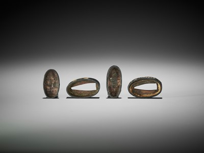 Lot 53 - TWO FUCHI AND KASHIRA WITH AOI LEAVES