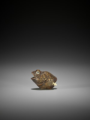 Lot 160 - AN UNUSUAL AND FINE WOOD NETSUKE OF A FISH HEAD