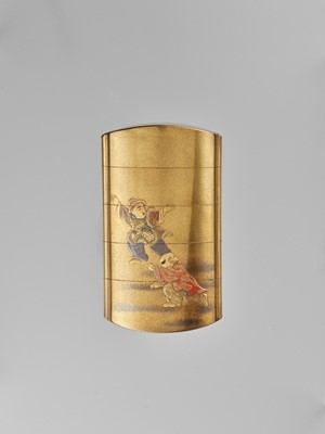 JOKASAI: A FINE GOLD LACQUER FOUR-CASE INRO DEPICTING SHIBA ONKO