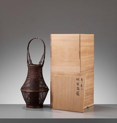 Lot 122 - SUZUKI GENGENSAI: A BAMBOO HANAKAGO (FLOWER BASKET)