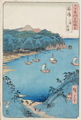 UTAGAWA HIROSHIGE (1797 – 1858), BAY AT KOMINATO