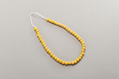 Lot 243 - 46 OLD YELLOW GLASS BEADS