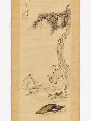 KISSO: A SCROLL PAINTING OF IMMORTALS GATHERING MUSHROOMS