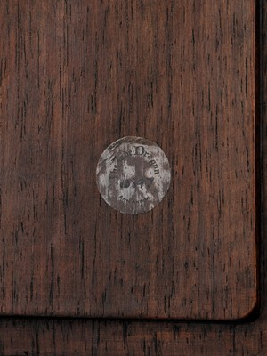 Lot 41 - A DREAMSTONE-INSET HARDWOOD TABLE SCREEN, QING DYNASTY
